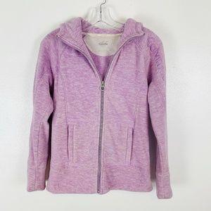 Calvin Klein Fleece Zip Up Hoodie Lavender S